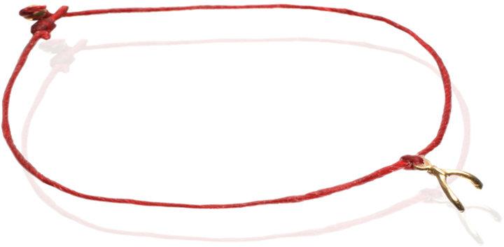 Dogeared Make A Wish Wishbone Charm Bracelet