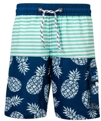 Snapper Rock Pineapple Mint Stripe Board Shorts