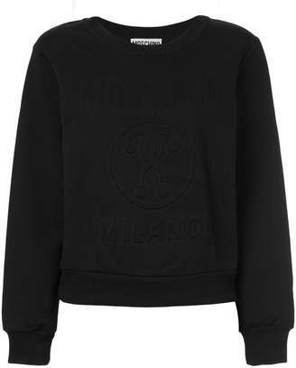 Moschino relief logo sweatshirt