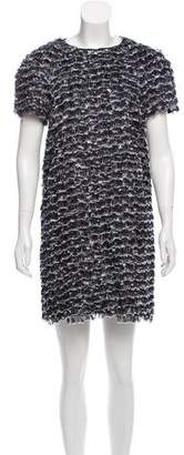 Proenza Schouler Fringed Abstract Dress