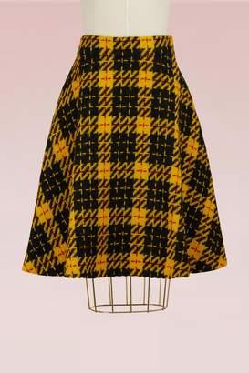 Miu Miu Wool tartan skirt