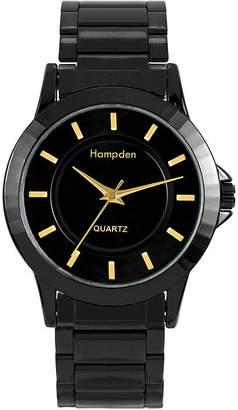 HAMPDEN Hampden Mens Black-Tone Personalized Bracelet Watch