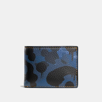 COACH Coach Slim Billfold Wallet In Wild Beast Camo Print Leather $150 thestylecure.com