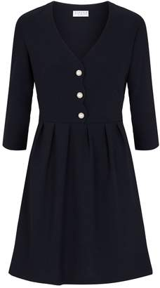 Claudie Pierlot V-Neck Button Dress