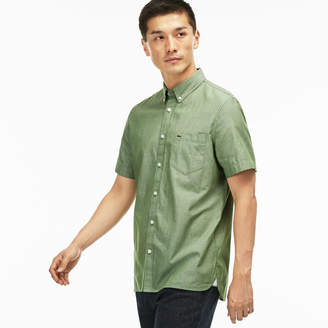 Lacoste Men's Regular Fit Cotton Chambray Shirt
