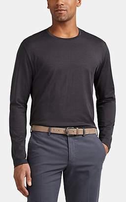 Loro Piana Men's Cotton Jersey Long-Sleeve T-Shirt - Black