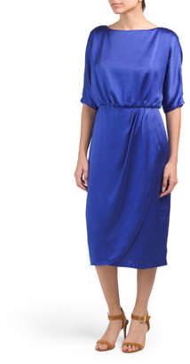Draped Blouson Top Dress