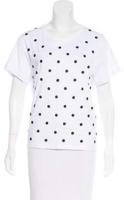 Marc Jacobs Embellished Short Sleeve Top
