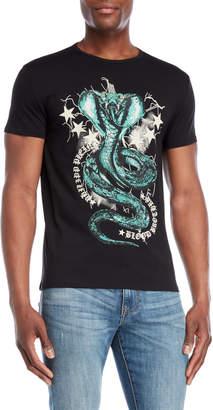 Heads Or Tails Embellished Snake Tee