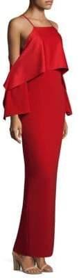 Trina Turk Mia Cold-Shoulder Gown