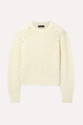 Rag & Bone Arizona Oversized Merino Wool Sweater - Cream