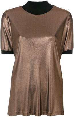 Fabiana Filippi contrast metallic blouse