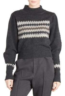 Isabel Marant Wool Blend Demie Chevron Sweater