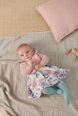 Next Girls Lilac Floral Prom Dress And Cardigan (0mths-2yrs)