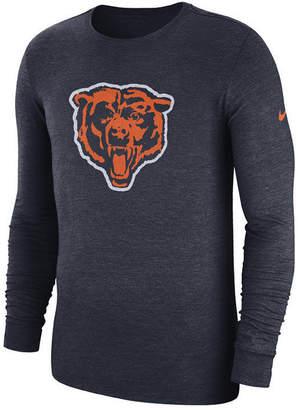 Nike Men's Chicago Bears Historic Crackle Long Sleeve Tri-Blend T-Shirt
