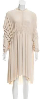 Lanvin Long Sleeve Draped Dress