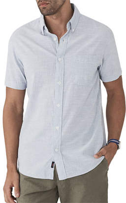 Faherty Men's Pacific Textured Organic Cotton Short-Sleeve Shirt