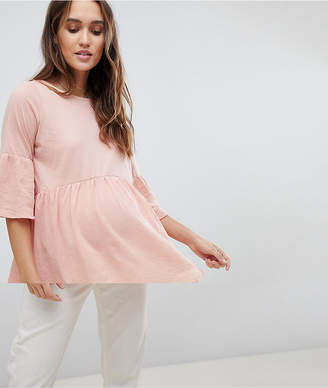 Mama Licious Mama.Licious Mamalicious Tiered Top With Fluted Sleeve