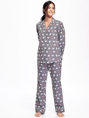 Printed Flannel Sleep Set for Women $29.94 thestylecure.com