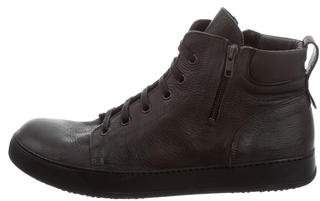 ARI Leather Mid-Top Sneakers w/ Tags