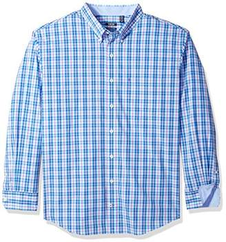 Izod Men's Premium Essential Plaid Long Sleeve Shirt (Big Tall Slim)