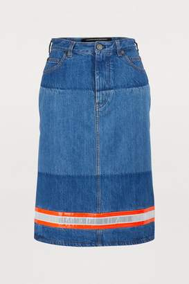 Calvin Klein Denim straight skirt