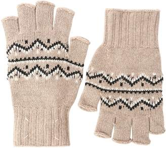 Maison Margiela Wool Jacquard Knit Fingerless Gloves