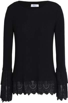 Bailey 44 Lace-Trimmed Knitted Top