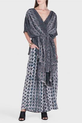 Laura Siegel Silk Herringbone Kimono Tunic