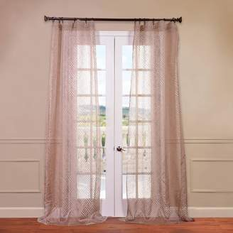 Eff EFF Zara Patterned Sheer Window Curtain