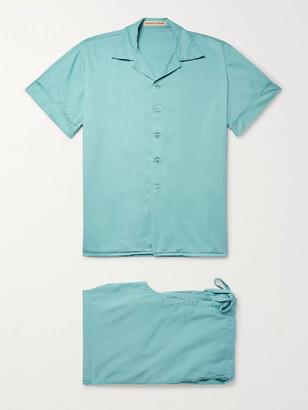 Cleverly Laundry - Washed-Cotton Pyjama Set - Men - Blue