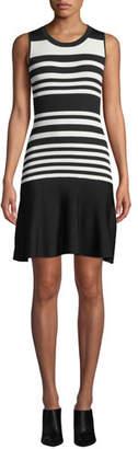 Parker Penny Striped Knit Sleeveless Dress