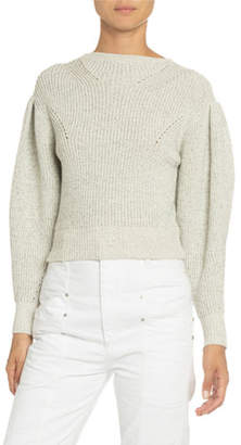 Isabel Marant Cotton-Wool Crewneck Sweater