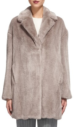 Whistles Faux Fur Cocoon Coat $520 thestylecure.com