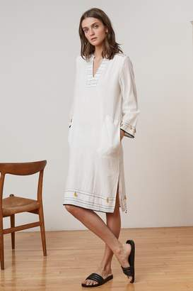 Velvet by Graham & Spencer SAMILE HAND STITCH GAUZE TUNIC DRESS
