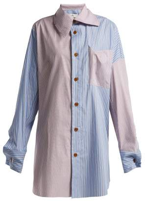 Vivienne Westwood Monti Striped Patchwork Shirt - Womens - Multi
