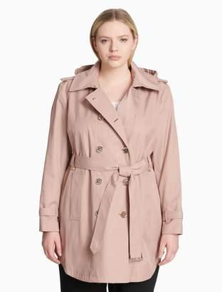 Calvin Klein plus size cotton trench coat