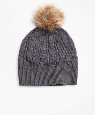 Brooks Brothers Cable-Knit Merino Wool Hat