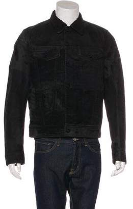 Just Cavalli 2016 Fleece-Trimmed Trucker Jacket