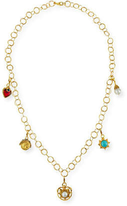 Jose & Maria Barrera 24K Gold-Plated Chain Necklace with Detachable Charms aD0XTXeDr