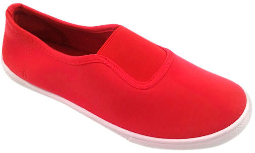 Red Canvas Slip-On Sneaker - Women