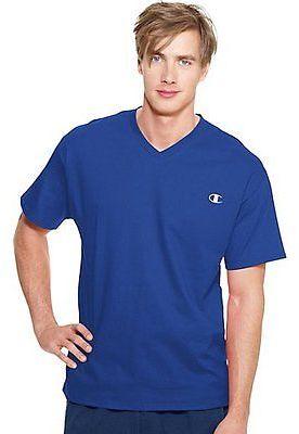 Champion Authentic Men's Jersey V-Neck T Shirt