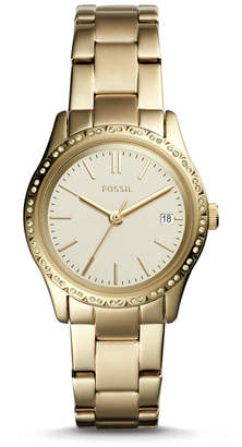 Fossil Adalyn Three-Hand Gold-Tone Stainless Steel Watch