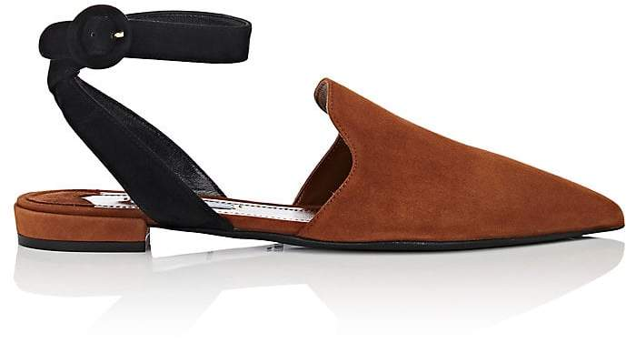 Prada Women's Suede Pointed-Toe Sandals