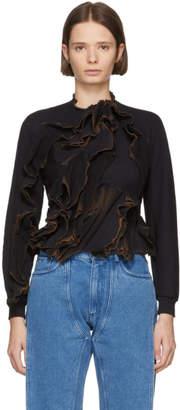 Ottolinger SSENSE Exclusive Black Burned Lines Sweatshirt