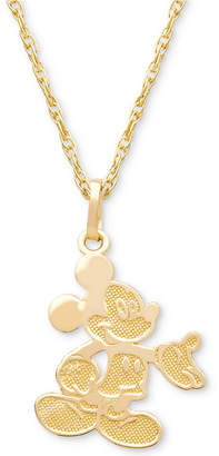 "Disney (ディズニー) - Disney Children Mickey Mouse 15"" Pendant Necklace in 14k Gold"