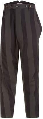 Vivienne Westwood Striped Drop Crotch Trousers