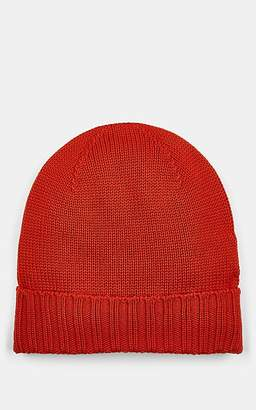 Barneys New York MEN'S RIB-KNIT WOOL BEANIE - ORANGE