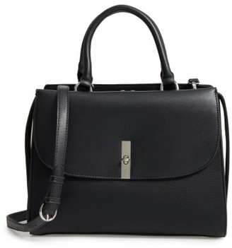 Chelsea28 Morgan Convertible Faux Leather Satchel - Black