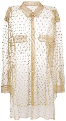 Maison Margiela sheer glitter embellished shirt